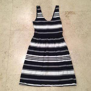 Navy Striped Tank Dress
